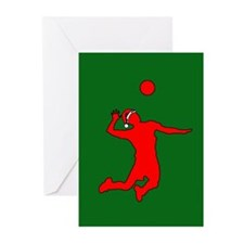 Volleyball Christmas Greeting Cards (Pk of 20)