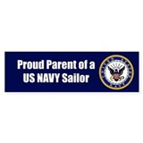 Navy Sailor Parent Bumper Car Sticker