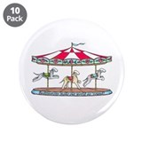 Bedlington Carousel 3.5&quot; Button (10 pack)