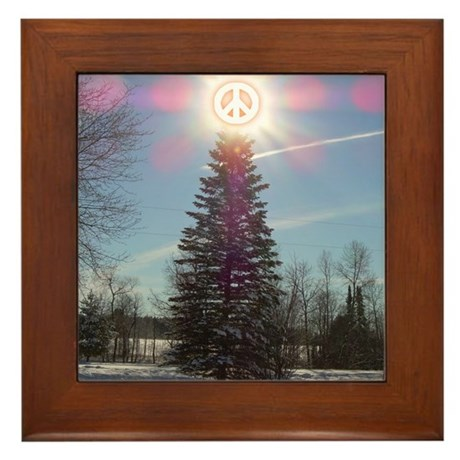 Christmas Peace Framed Tile
