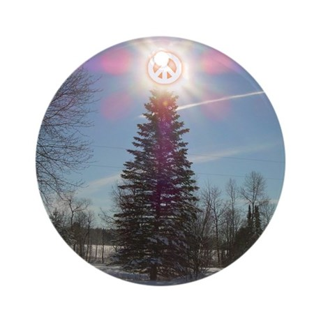 Christmas Peace Ornament (Round)