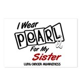I Wear Pearl For My Sister 8 Postcards (Package of