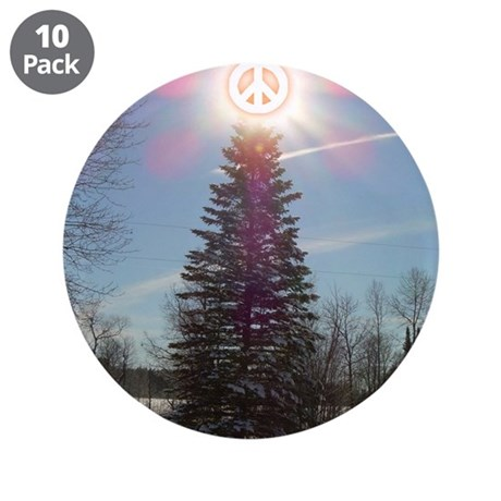 "Christmas Peace 3.5"" Button (10 pack)"