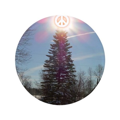 "Christmas Peace 3.5"" Button"