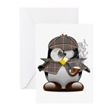 Shelock Penguin Greeting Cards (Pk of 10)