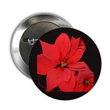 "Poinsettia 2.25"" Button"