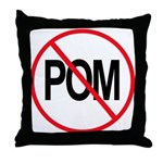 Just Say No to POM Throw Pillow