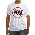 Just Say No to POM Fitted T-Shirt