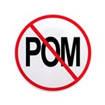 Just Say No to POM 3.5&quot; Button (100 pack)