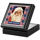 A Pro Bush Christmas Patriotic Keepsake Box
