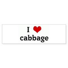 I Love cabbage Bumper Sticker (10 pk)