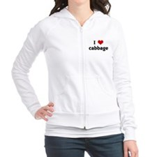 I Love cabbage Fitted Hoodie