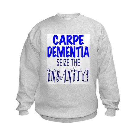 Carpe Dementia Kids Sweatshirt