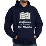 What Happens At Practice Orchestra Hoodie (dark)