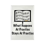 What Happens At Practice Band Rectangle Magnet (10