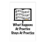 What Happens At Practice Band Postcards (Package o