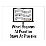 What Happens At Practice Band Small Poster