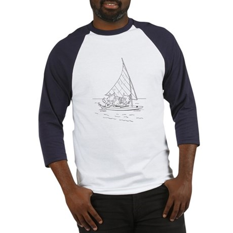 Sailboat Cats Baseball Jersey