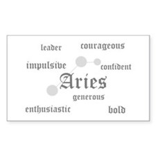 Aries Rectangle Decal