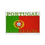 Portugal Portuguese flag Rectangle Magnet (100 pac