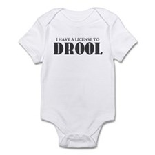 LICENSE TO DROOL Infant Bodysuit