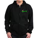 Weiner Dog Zip Hoodie (dark)