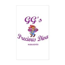 GG'S DIVA Rectangle Decal