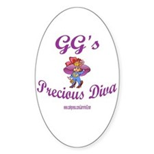 GG'S DIVA Oval Decal