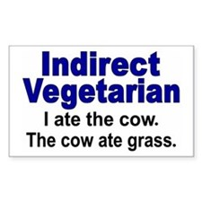 Indirect Vegetarian Rectangle Decal