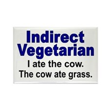 Indirect Vegetarian Rectangle Magnet (10 pack)