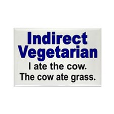 Indirect Vegetarian Rectangle Magnet