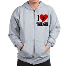I Love Twilight Zip Hoodie