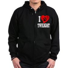 I Love Twilight Zip Hoodie