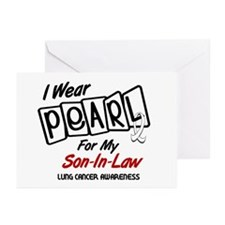 I Wear Pearl For My Son-In-Law 8 Greeting Cards (P