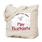 Play Buzkashi Tote Bag