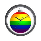 Rainbow Ornament Wall Clock