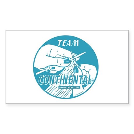 Team Continental Rectangle Sticker