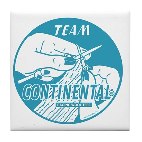 Team Continental Tile Coaster