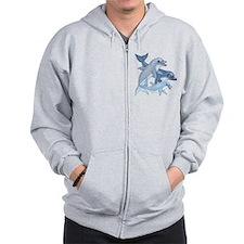 Dolphin Family Zip Hoodie
