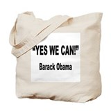 Obama Yes We Can Quote Tote Bag