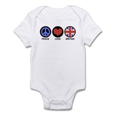 Peace Love Britain Infant Bodysuit