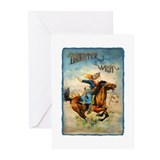 Vintage Cowgirl Roping Greeting Cards (Pk of 10)