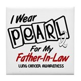 I Wear Pearl For My Father-In-Law 8 Tile Coaster