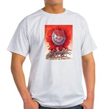 CCCP Red Banner Ash Grey T-Shirt