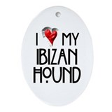 Ibizan Hound Oval Ornament