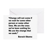 Obama We Are The Change Quote Greeting Card