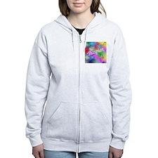 Thespian on Rainbow Zip Hoodie
