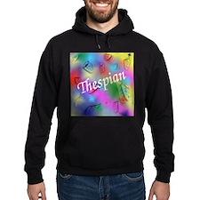 Thespian on Rainbow Hoodie