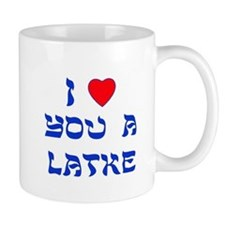 I Love You a Latke Small Mugs