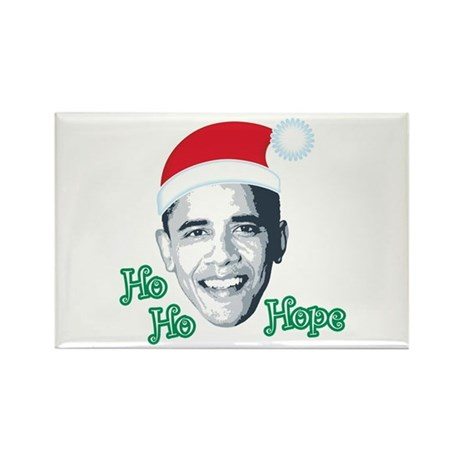 Ho Ho Hope Rectangle Magnet